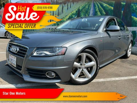 2012 Audi A4 for sale at Star One Motors in Hayward CA