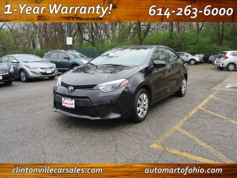 2014 Toyota Corolla for sale at Clintonville Car Sales - AutoMart of Ohio in Columbus OH