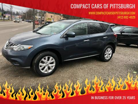 2011 Nissan Murano for sale at Compact Cars of Pittsburgh in Pittsburgh PA