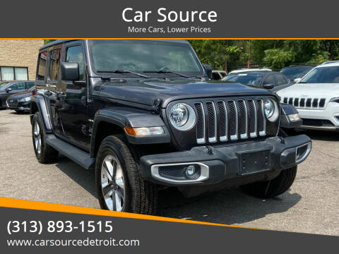2020 Jeep Wrangler Unlimited for sale at Car Source in Detroit MI