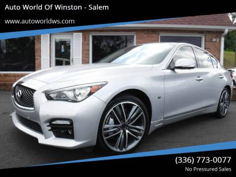 2014 Infiniti Q50 for sale at Auto World Of Winston - Salem in Winston Salem NC