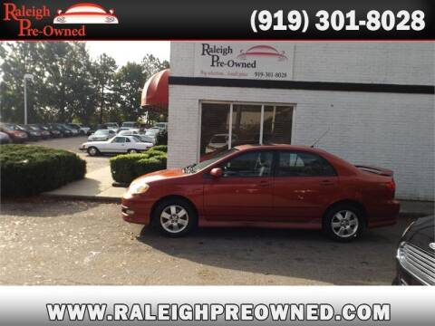 2005 Toyota Corolla for sale at Raleigh Pre-Owned in Raleigh NC