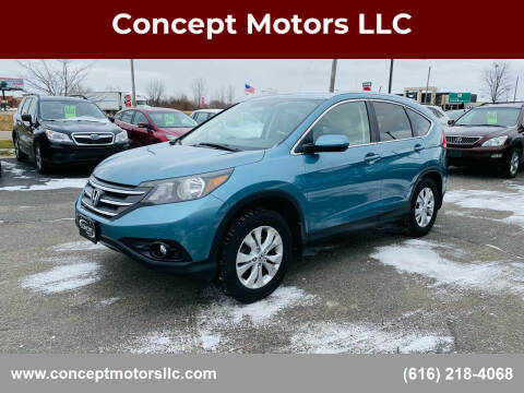 2013 Honda CR-V for sale at Concept Motors LLC in Holland MI