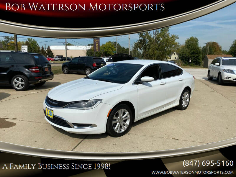 2016 Chrysler 200 for sale at Bob Waterson Motorsports in South Elgin IL