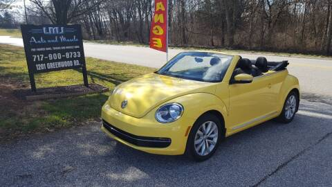 2014 Volkswagen Beetle Convertible for sale at LMJ AUTO AND MUSCLE in York PA