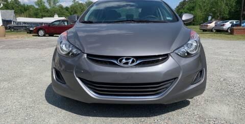 2013 Hyundai Elantra for sale at Premier Auto Solutions & Sales in Quinton VA
