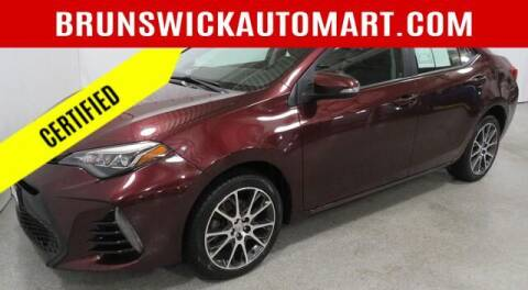2017 Toyota Corolla for sale at Brunswick Auto Mart in Brunswick OH
