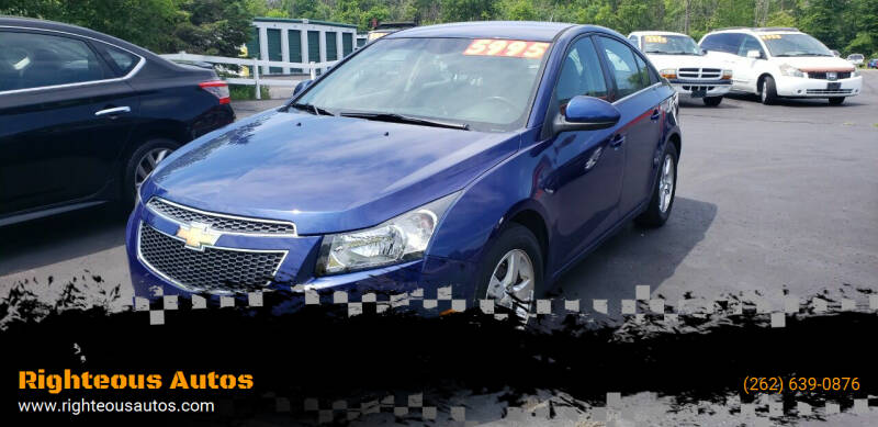 2012 Chevrolet Cruze for sale at Righteous Autos in Racine WI