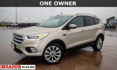 2017 Ford Escape for sale at Meador Dodge Chrysler Jeep RAM in Fort Worth TX
