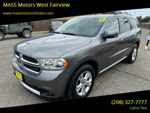 2013 Dodge Durango for sale at M.A.S.S. Motors - West Fairview in Boise ID