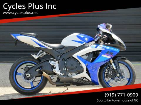 2007 Suzuki GSX-R600 for sale at Cycles Plus Inc in Garner NC