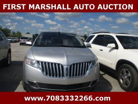2013 Lincoln MKX for sale at First Marshall Auto Auction in Harvey IL