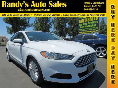 2015 Ford Fusion Hybrid for sale at Randy's Auto Sales in Ontario CA