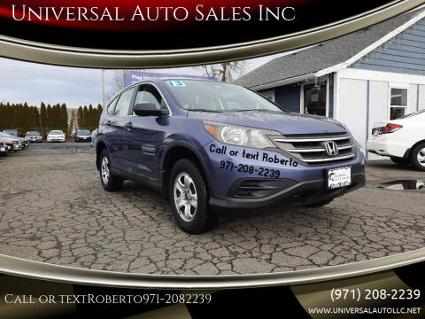 2013 Honda CR-V for sale at Universal Auto Sales Inc in Salem OR