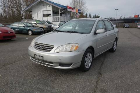 2004 Toyota Corolla for sale at Leavitt Auto Sales and Used Car City in Everett WA