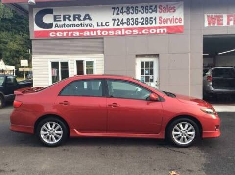 2010 Toyota Corolla for sale at Cerra Automotive LLC in Greensburg PA
