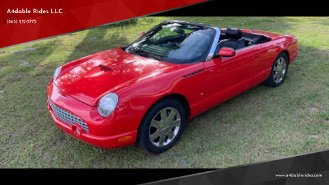 2003 Ford Thunderbird for sale at A4dable Rides LLC in Haines City FL