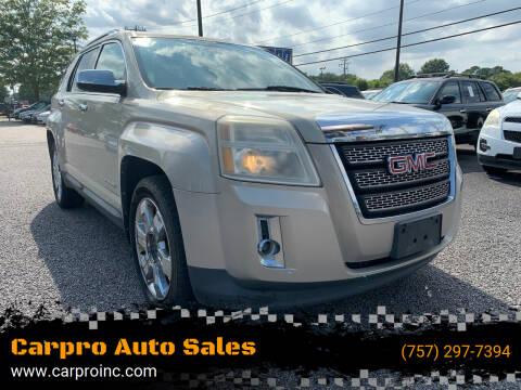 2010 GMC Terrain for sale at Carpro Auto Sales in Chesapeake VA