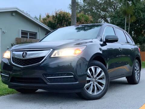 2014 Acura MDX for sale at HIGH PERFORMANCE MOTORS in Hollywood FL
