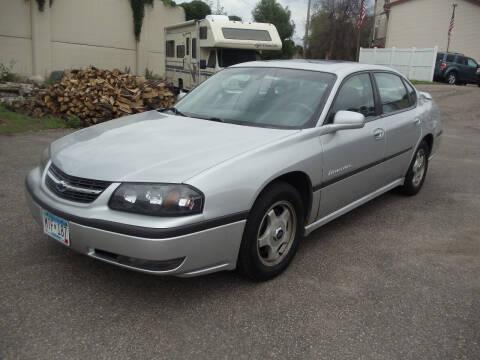 2002 Chevrolet Impala for sale at Metro Motor Sales in Minneapolis MN