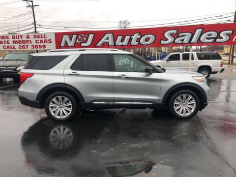 2020 Ford Explorer for sale at N & J Auto Sales in Warsaw IN