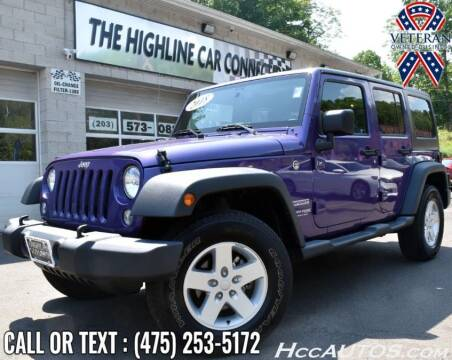 2018 Jeep Wrangler JK Unlimited for sale at The Highline Car Connection in Waterbury CT