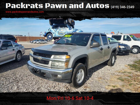 2007 Chevrolet Colorado for sale at Packrats Pawn and Autos in Defiance OH