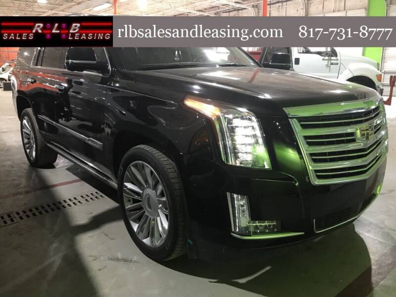 2016 Cadillac Escalade for sale at RLB Sales and Leasing in Fort Worth TX