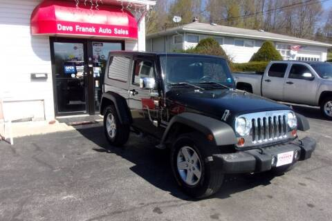 2010 Jeep Wrangler for sale at Dave Franek Automotive in Wantage NJ