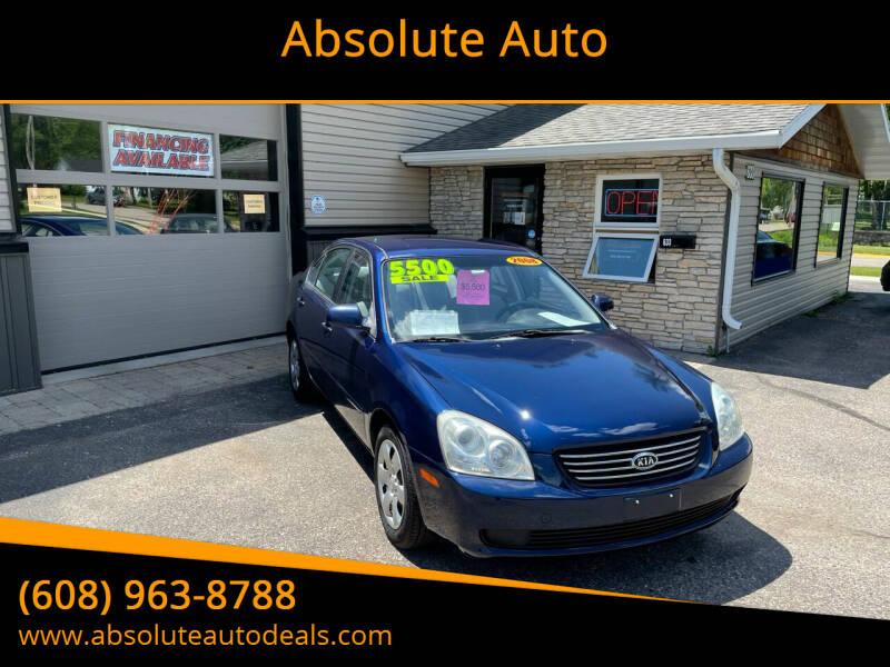 2008 Kia Optima for sale at Absolute Auto in Baraboo WI