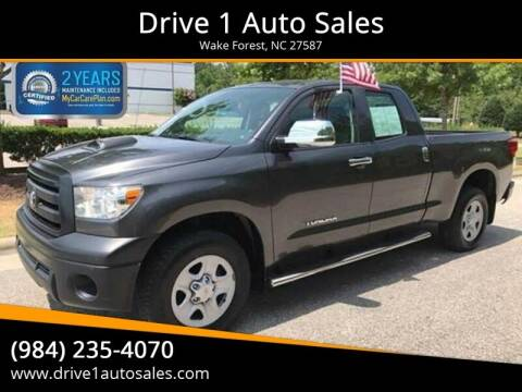 2012 Toyota Tundra for sale at Drive 1 Auto Sales in Wake Forest NC