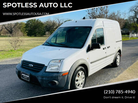 2012 Ford Transit Connect for sale at SPOTLESS AUTO LLC in San Antonio TX