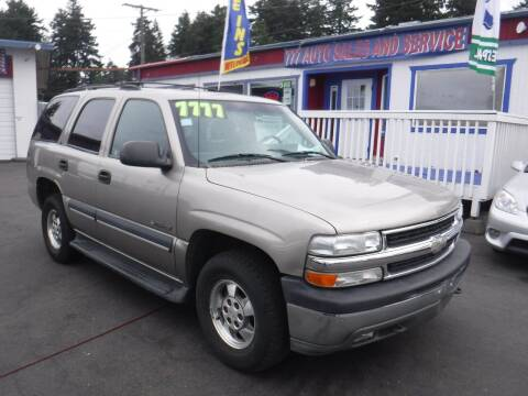 2002 Chevrolet Tahoe for sale at 777 Auto Sales and Service in Tacoma WA