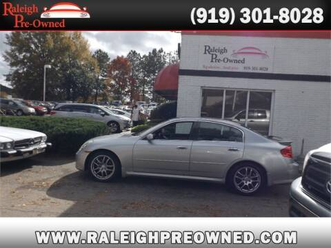 2005 Infiniti G35 for sale at Raleigh Pre-Owned in Raleigh NC