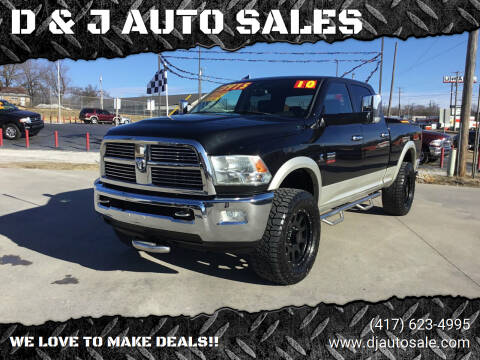 2010 Dodge Ram Pickup 2500 for sale at D & J AUTO SALES in Joplin MO