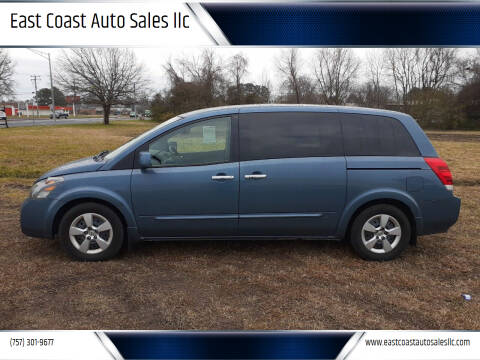 2008 Nissan Quest for sale at East Coast Auto Sales llc in Virginia Beach VA