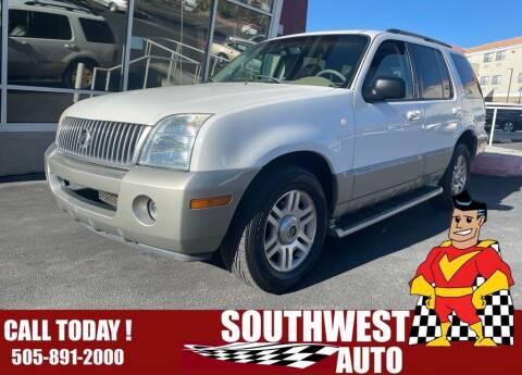 2003 Mercury Mountaineer for sale at SOUTHWEST AUTO in Albuquerque NM