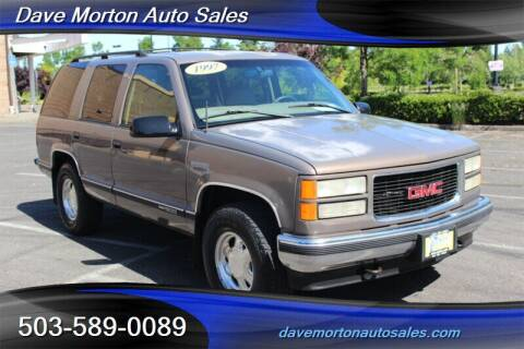 1997 GMC Yukon for sale at Dave Morton Auto Sales in Salem OR
