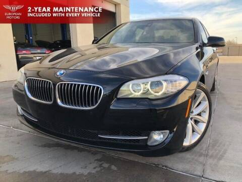 2012 BMW 5 Series for sale at European Motors Inc in Plano TX
