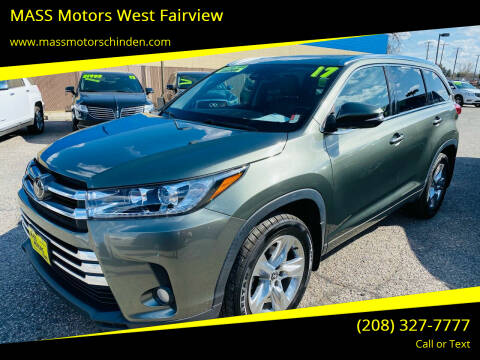 2017 Toyota Highlander for sale at MASS Motors West Fairview in Boise ID