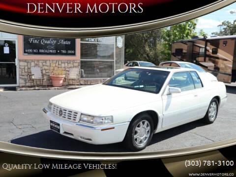 1998 Cadillac Eldorado for sale at DENVER MOTORS in Englewood CO
