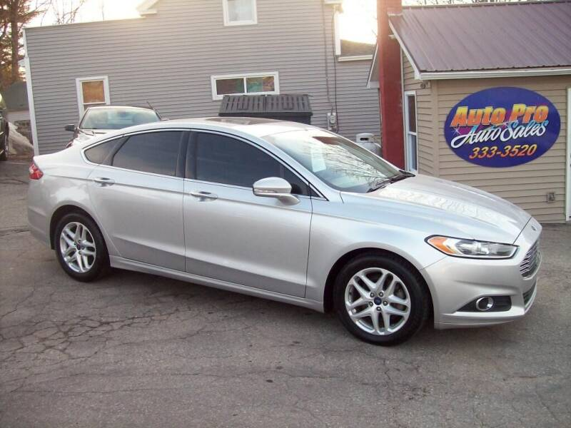2015 Ford Fusion for sale at Auto Pro Auto Sales-797 Sabattus St. in Lewiston ME