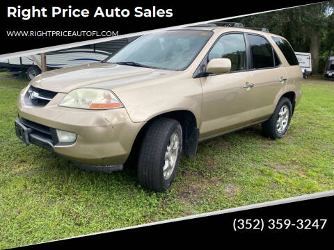 2001 Acura MDX for sale at Right Price Auto Sales in Waldo FL