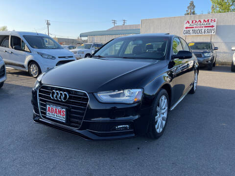 2015 Audi A4 for sale at Adams Auto Sales in Sacramento CA