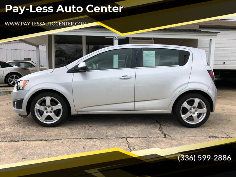 2015 Chevrolet Sonic for sale at Pay-Less Auto Center-Burlington Road in Roxboro NC