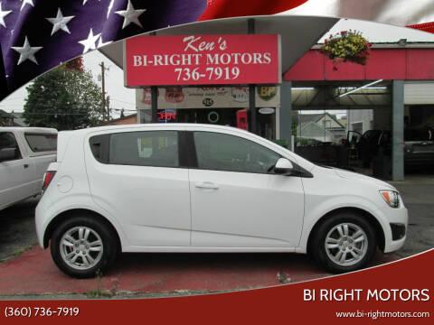 2012 Chevrolet Sonic for sale at Bi Right Motors in Centralia WA