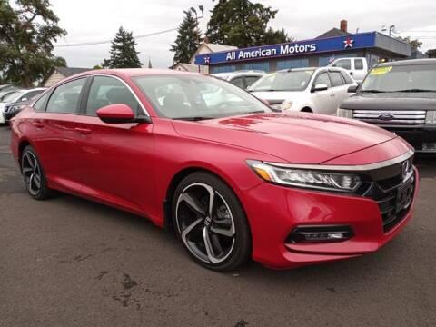 2018 Honda Accord for sale at All American Motors in Tacoma WA