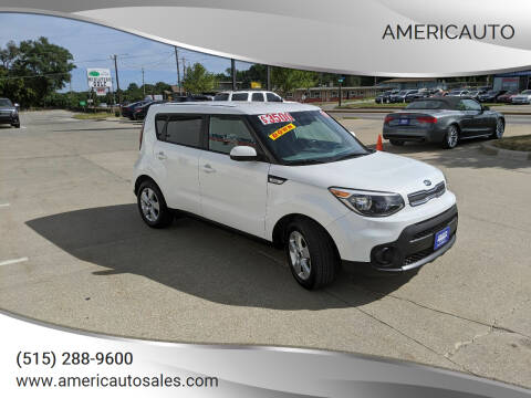 2019 Kia Soul for sale at AmericAuto in Des Moines IA