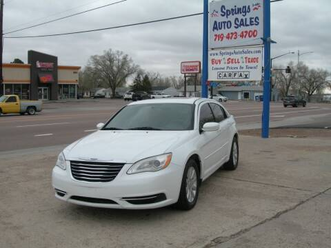 2012 Chrysler 200 for sale at Springs Auto Sales in Colorado Springs CO