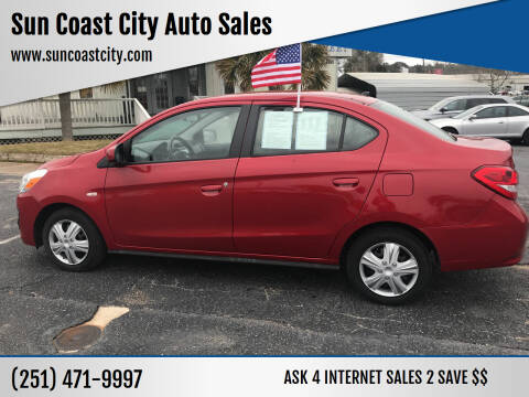 2019 Mitsubishi Mirage G4 for sale at Sun Coast City Auto Sales in Mobile AL